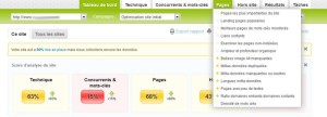 Informations concernant vos pages