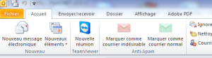 Extensions dans le ruban d'Outlook
