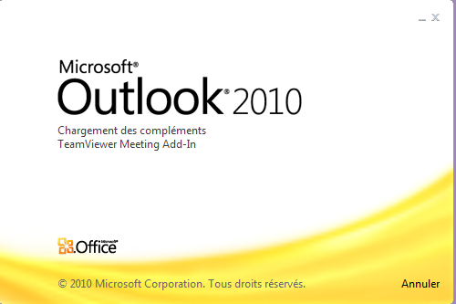 Lancement d'Outlook