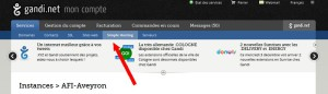 Se rendre sur l'administration Simple Hosting
