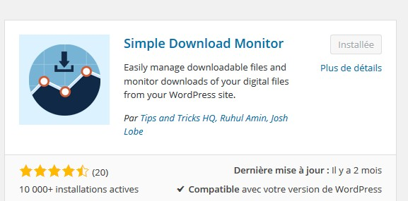 Simple Download Monitor : gérer simplement ses téléchargements avec WordPress