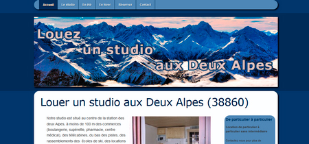 Site de location d'un studio